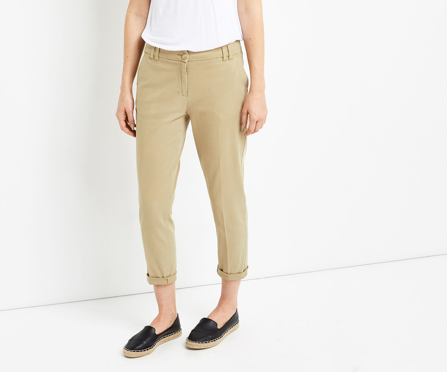Oasis, SHORTER LENGTH CHINO Mid Neutral 1