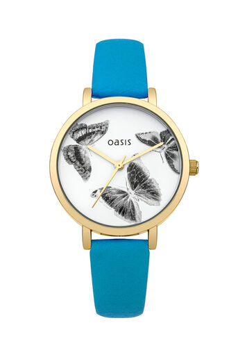 Oasis, Mint Butterfly Dial Watch Pale Green 0