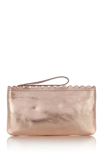 Oasis, LEATHER SCALLOP PURSE Gold 0