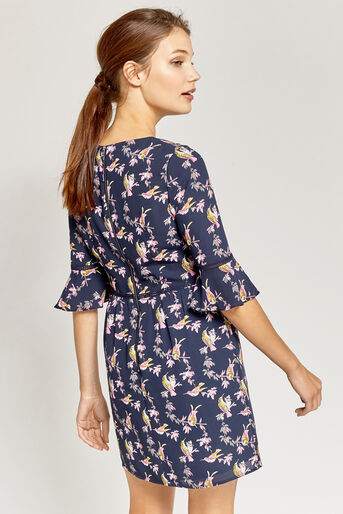 Oasis, LOTUS BIRD DRESS Multi Blue 3