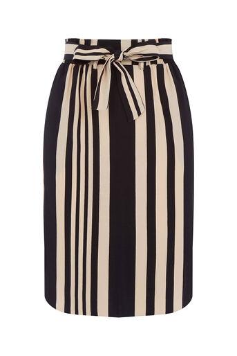 Oasis, Paperbag Stripe Skirt Multi Black 0
