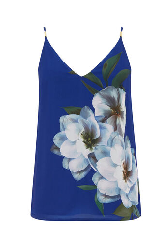 Oasis, WILD FLORAL CAMI Mid Blue 0