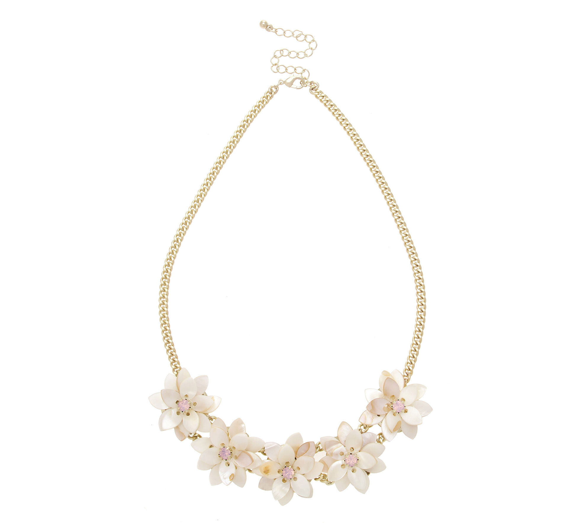 Oasis, SHELL FLOWER NECKLACE White 0