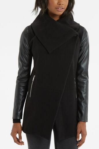 Oasis, Cara Drape Coat Black 4