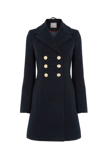 Oasis, MARIE MILITARY COAT Navy 0