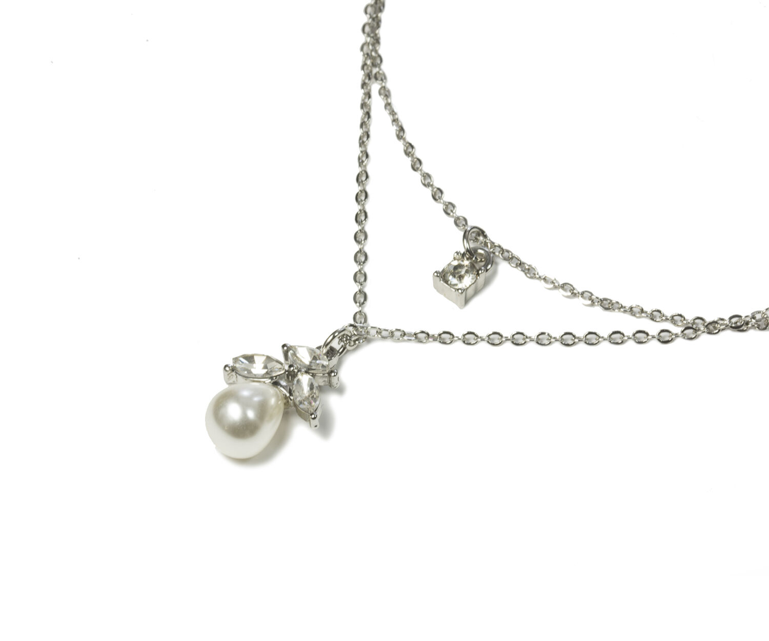 Oasis, PEARL DROP NECKLACE Crystal 1