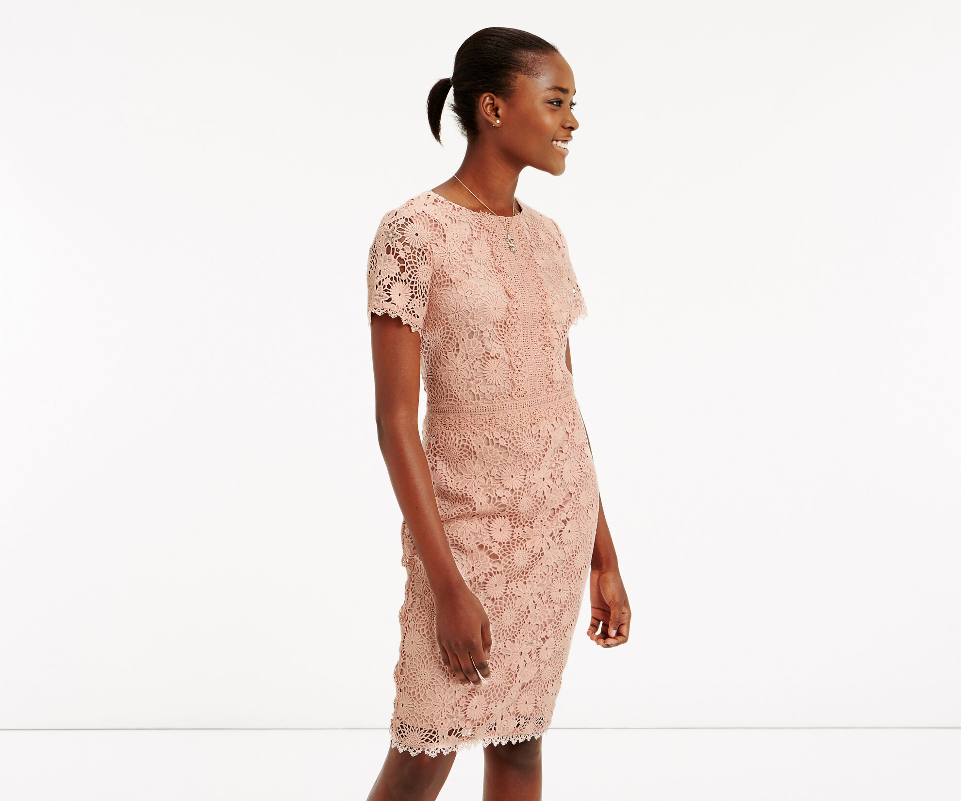 Oasis, GUIPURE LACE DRESS Natural 1