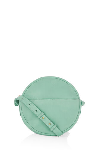 Oasis, LEATHER CIRCLE CROSS-BODY BAG Pale Green 0