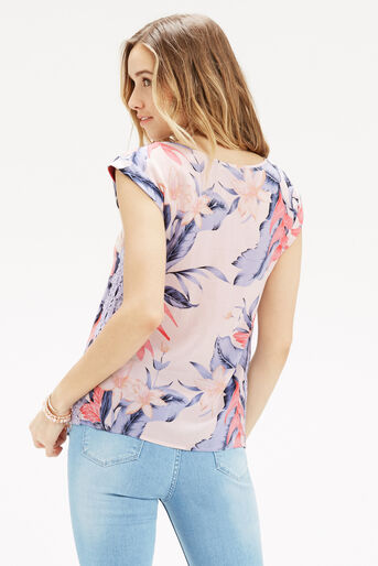 Oasis, TROPICAL FANCY T-SHIRT Multi Pink 3
