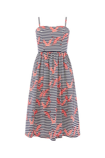 Oasis, STRIPE FLAMINGO COTTON DRESS Multi 0