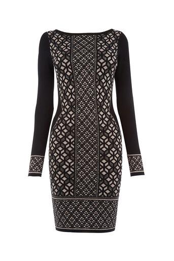Oasis, Glitter Knit Dress Multi Silver 0
