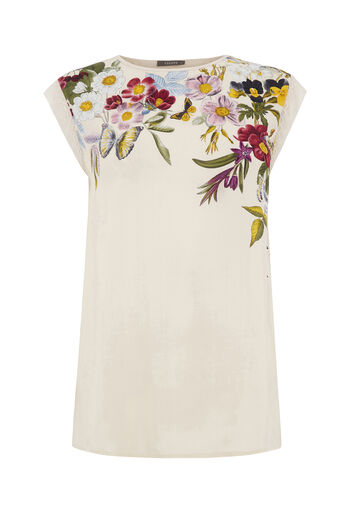 Oasis, SPRING PLACEMENT TEE Multi Natural 0