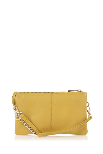 Oasis, LEATHER CROSS-BODY BAG Ochre 0