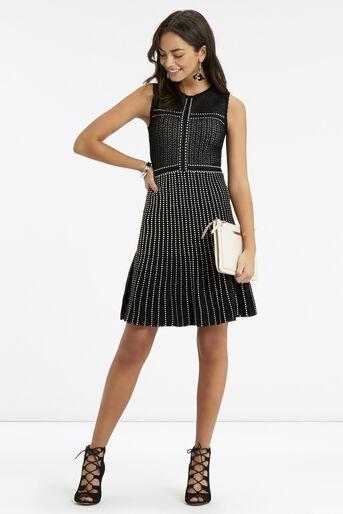 Oasis, Lace Compact Statement Dress Black 2
