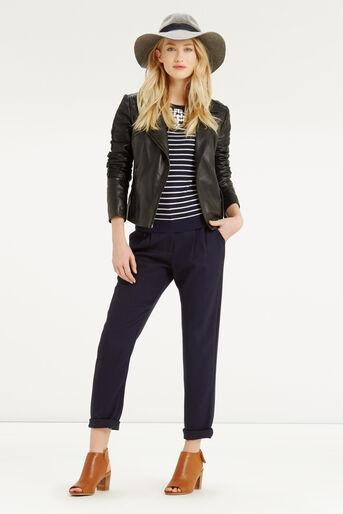 Oasis, Embellished Stripe Neck Top Multi 2