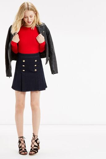 Oasis, Military skirt Dark Wash 2