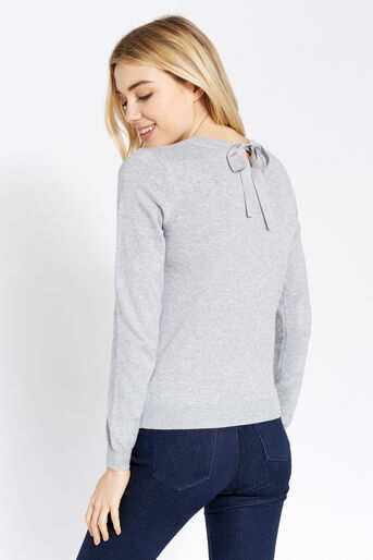 Oasis, Embroidered lotus knit Mid Grey 3