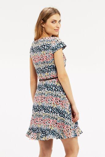 Oasis, Ditsy Frill Dress Multi 3