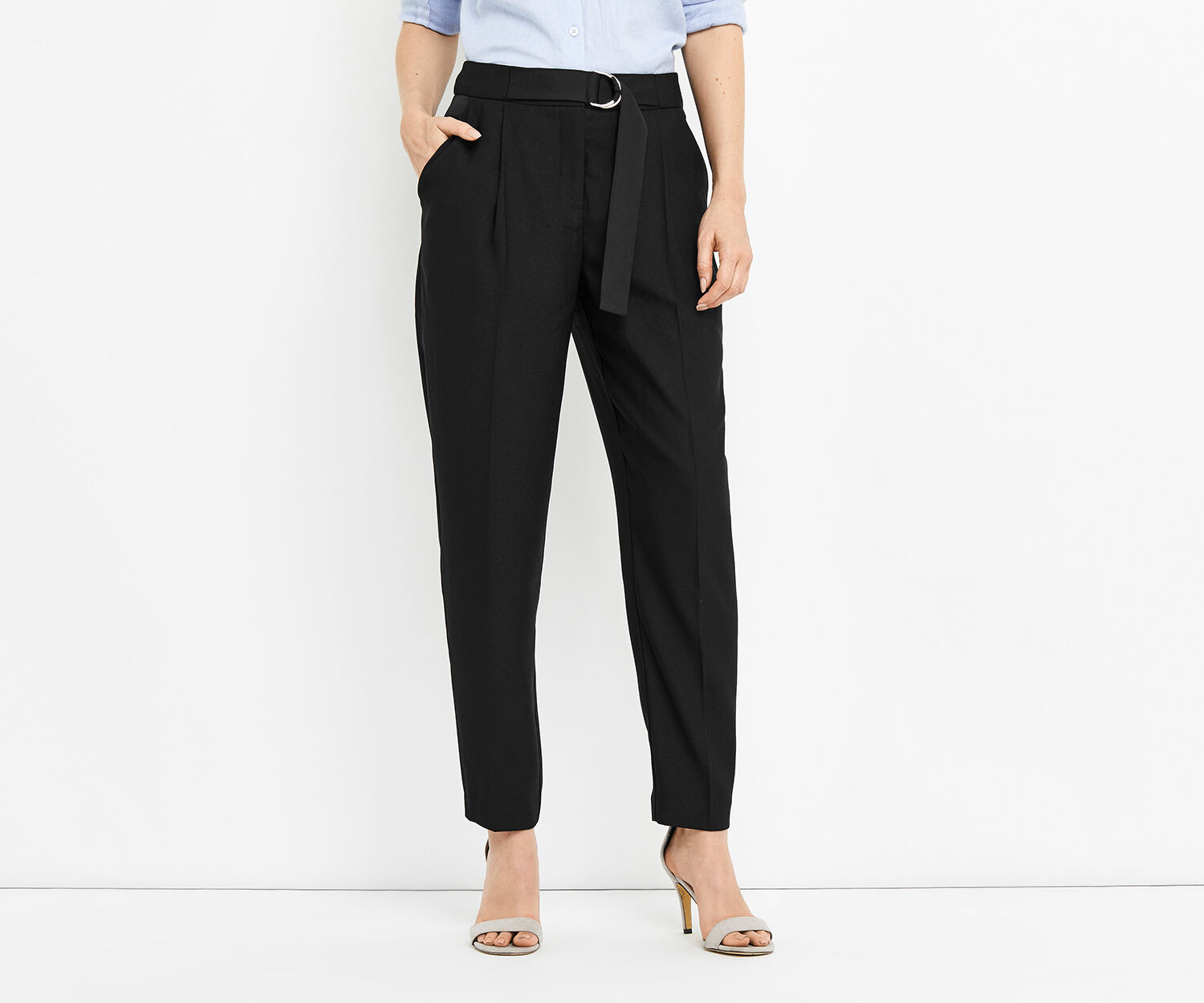 Oasis, LUXE UTILITY TROUSER Black 1