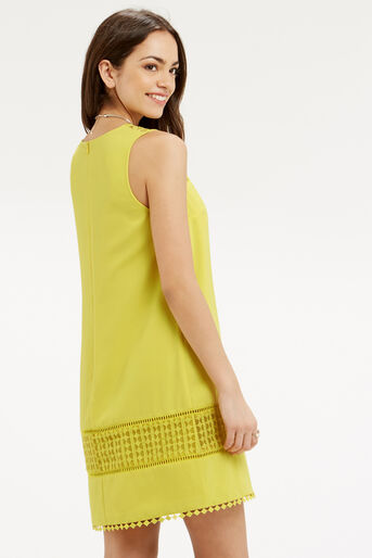 Oasis, Lace Detail Dress Bright Yellow 3