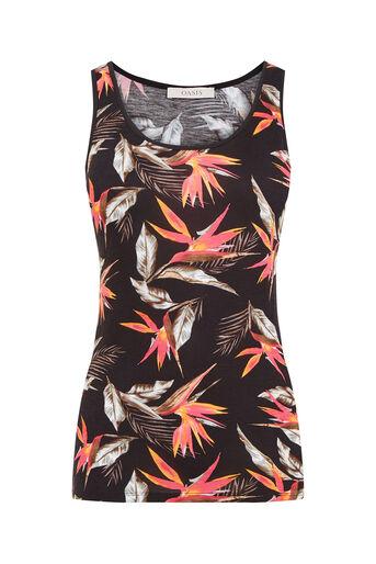 Oasis, Bird Of Paradise Print Vest Black 0