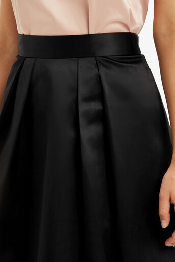 Oasis, PETITE SATIN SKIRT Black 4