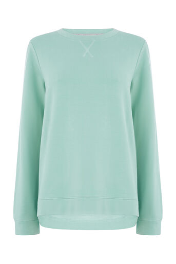 Oasis, PLAIN SWEAT Teal Green 0