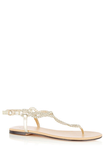 Oasis, TILLY TWIST TOE POST Gold 0