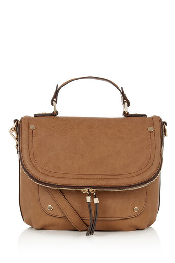 Oasis, SAATCHI CROSS-BODY BAG Tan 0