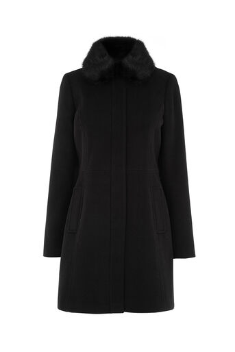 Oasis, SOPHIA PRINCESS COAT Black 0