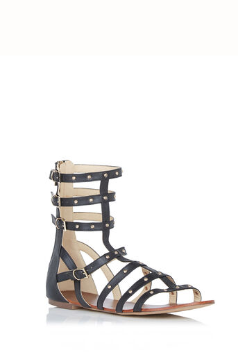Oasis, Stud Gladiator Sandals Black 0