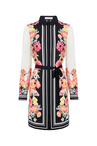 Oasis, Film Floral Shirt Dress Multi 0