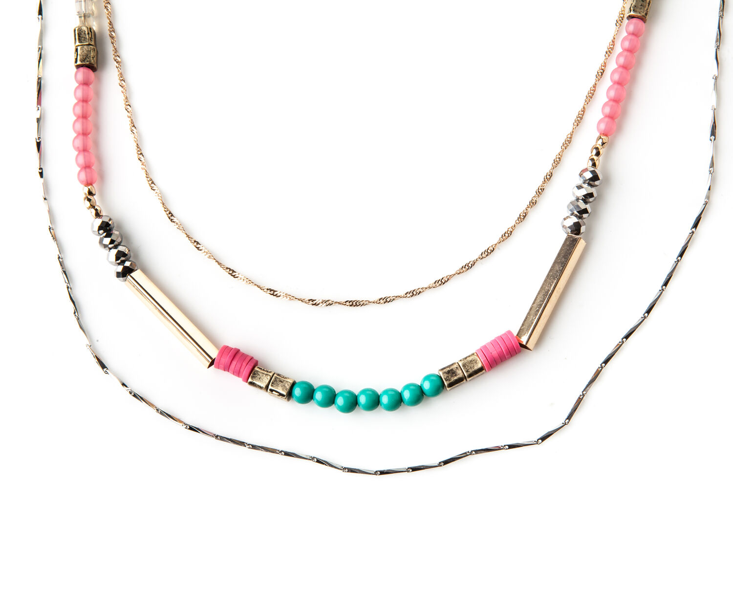 Oasis, BEADED BRIGHT NECKLACE Multi 1