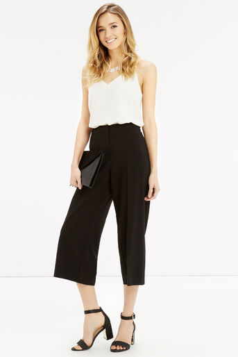 Oasis, Cropped Trouser Black 2