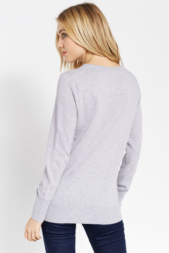 Oasis, Heart cosy knit Mid Grey 3