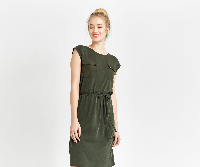 Oasis, SOFT UTILITY DRESS Khaki 1