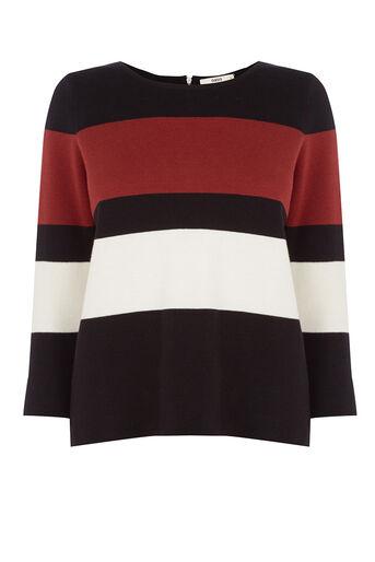 Oasis, Colour Block Crop Knit Multi 0