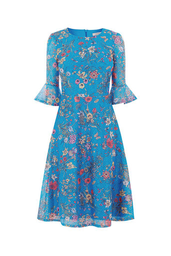 Oasis, AZALEA MIDI DRESS Multi Blue 0