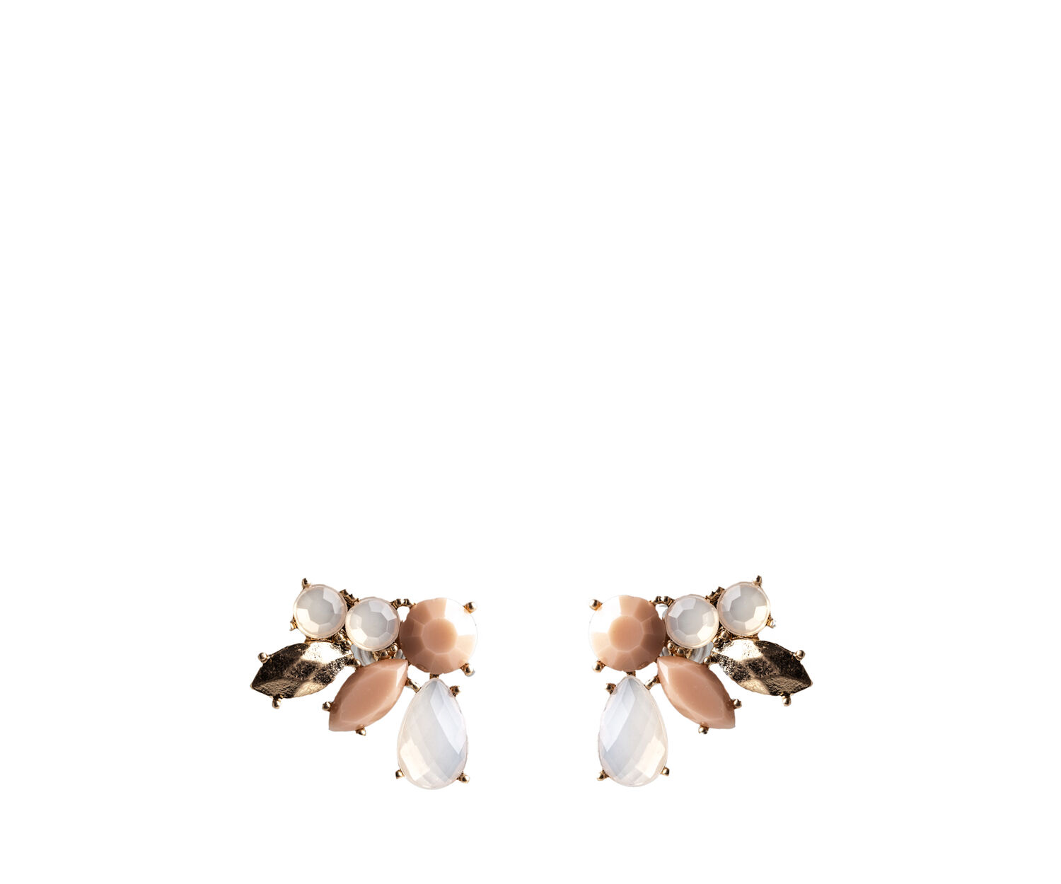 Oasis, BLUSH CLUSTER EARRINGS Gold 0