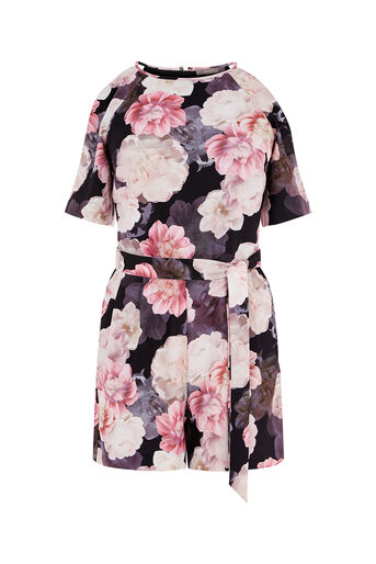 Oasis, SPRING BLOOM PLAYSUIT Multi Black 0