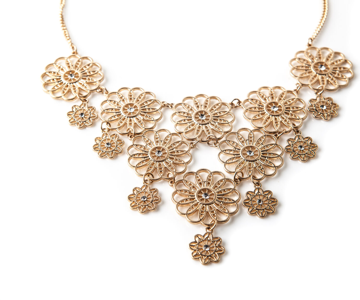 Oasis, FILIGREE FLOWER COLLAR Gold 1