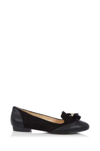 Oasis, BROGUE TASSEL SLIPPER Black 0