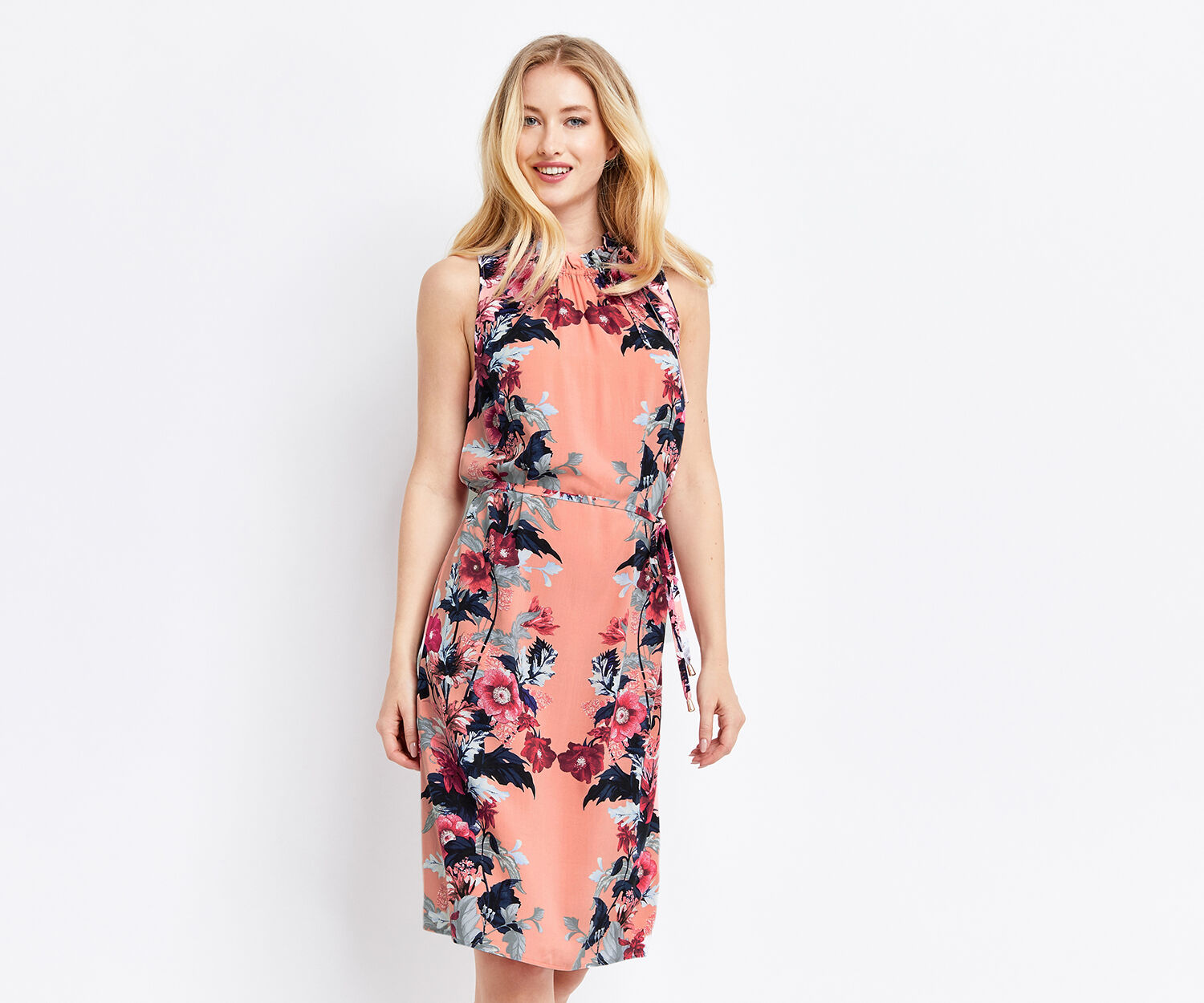 Oasis, LONG LEAF & ROSE DRESS Multi 1