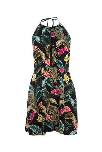 Oasis, Miami tropical halter dress Black 0