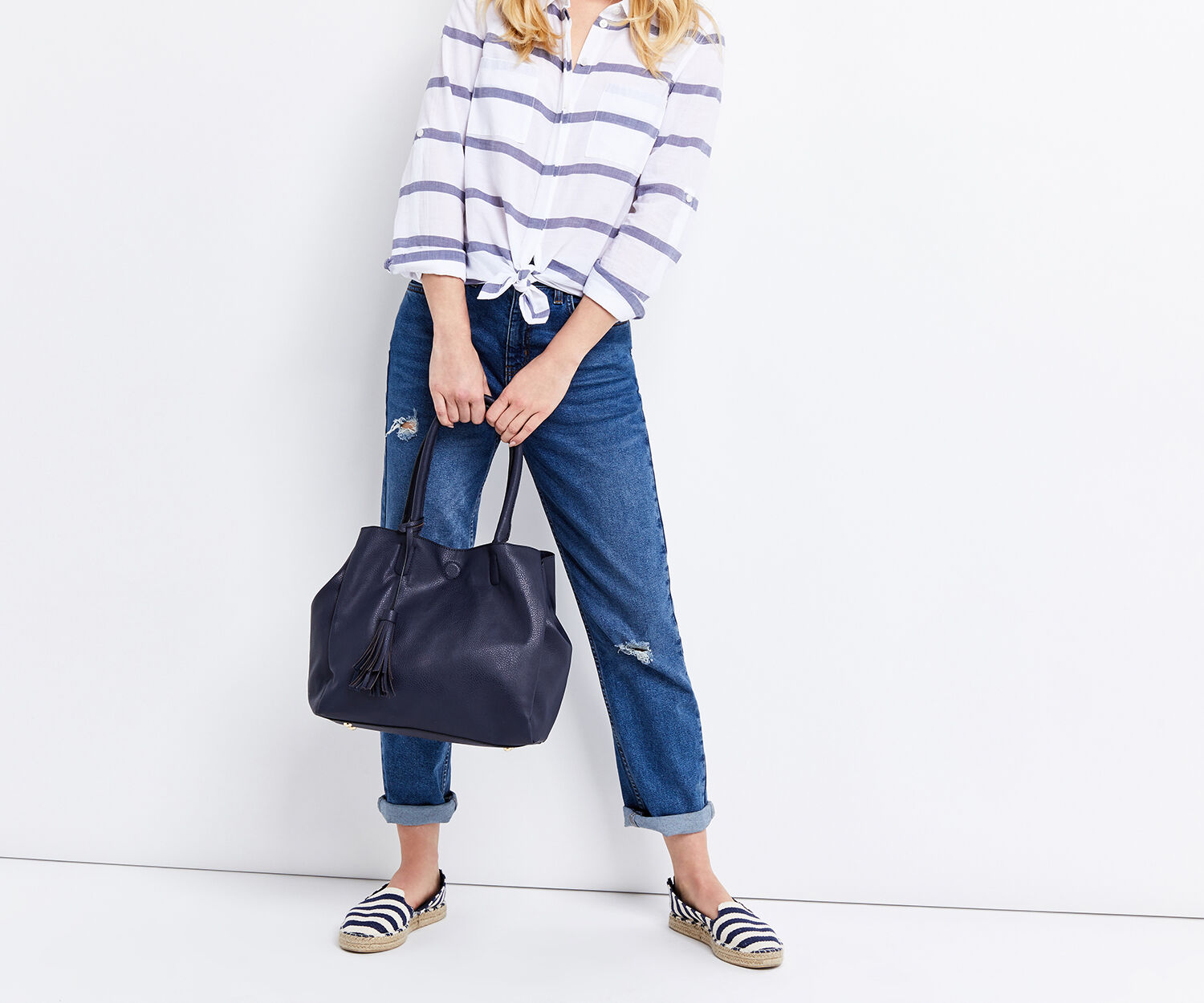 Oasis, TRUDY TOPHANDLE TOTE Navy 1