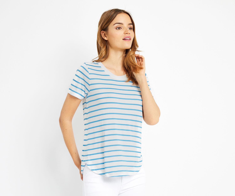 Oasis, new stripe perfect tee Multi Blue 1