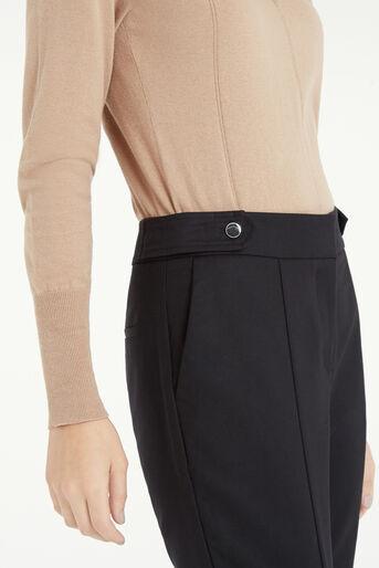 Oasis, Compact Cotton Trouser Black 4