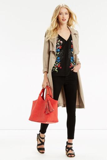 Oasis, Botany Print Plait Trim Vest Multi Black 2