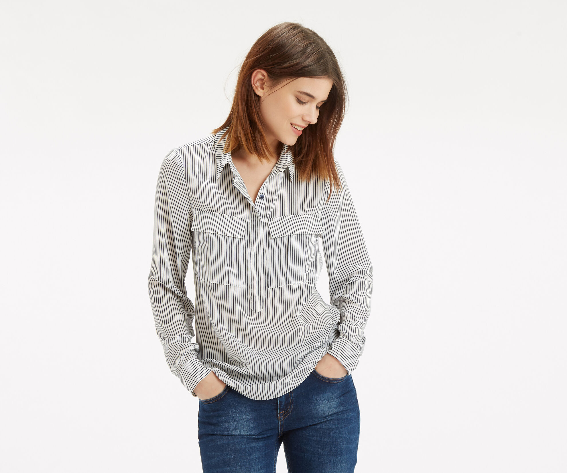 Oasis, Vertical Stripe Shirt Multi 1
