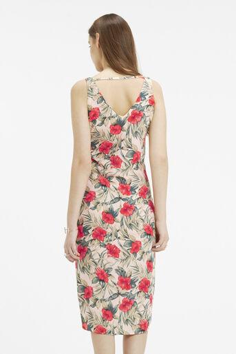 Oasis, Tropical Midi Dress Multi Natural 3